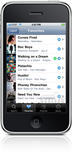 Grooveshark no iPhone