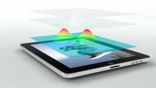 Tela multi-touch do iPad