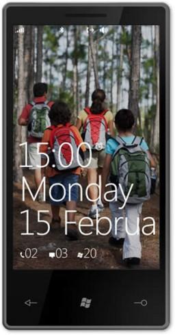 Smartphone com o Microsoft Windows Phone 7 Series