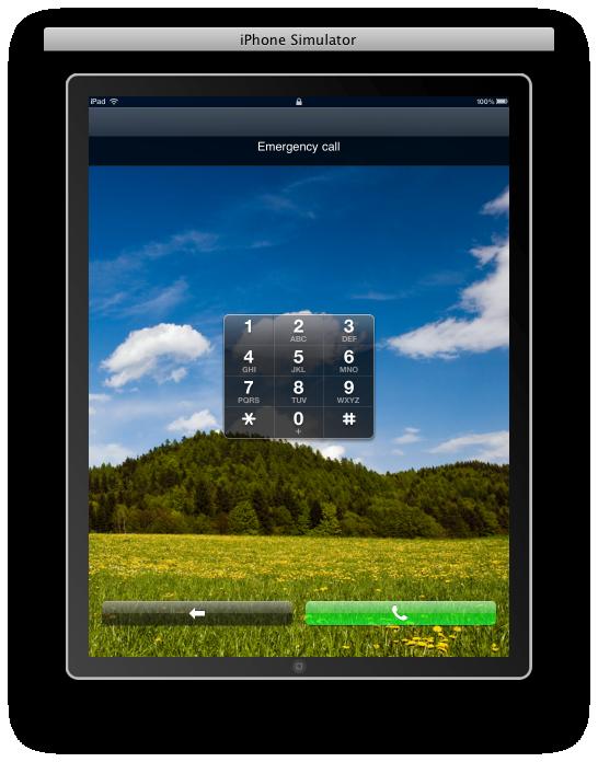 Ligações de emergência no iPad
