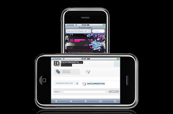 Escritório Digital e iPhones