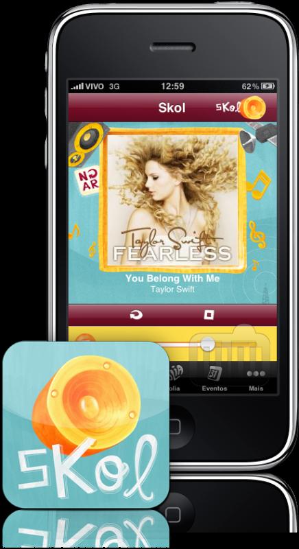 Rádio Skol no iPhone