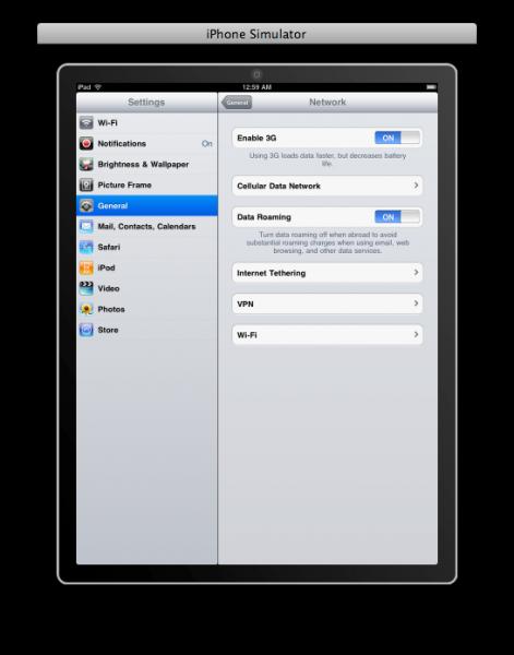 Tethering no iPad