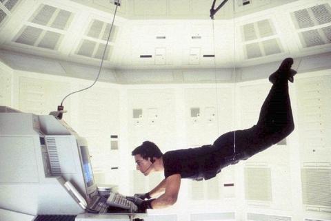 Cena de Missão Impossível com Tom Cruise