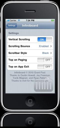 Infiniboard para iPhone