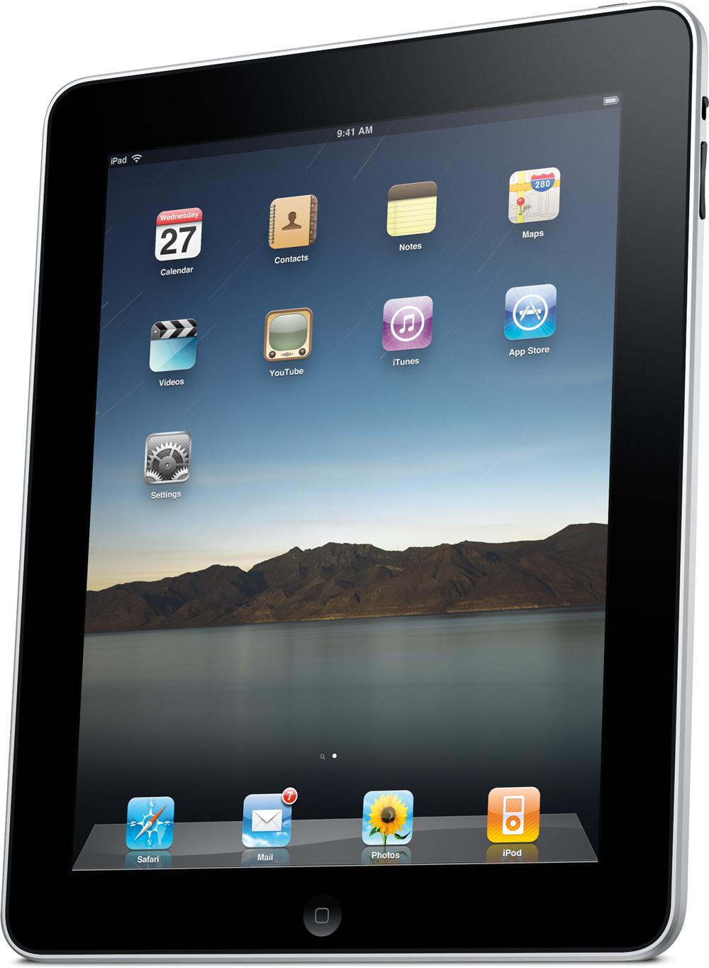 iPad frontal e grande