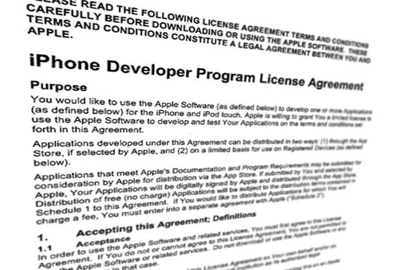 iPhone Developer Program License Agreement