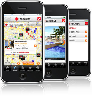 App da Tecnisa em iPhones