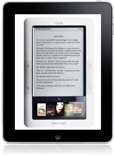 Nook dentro de um iPad