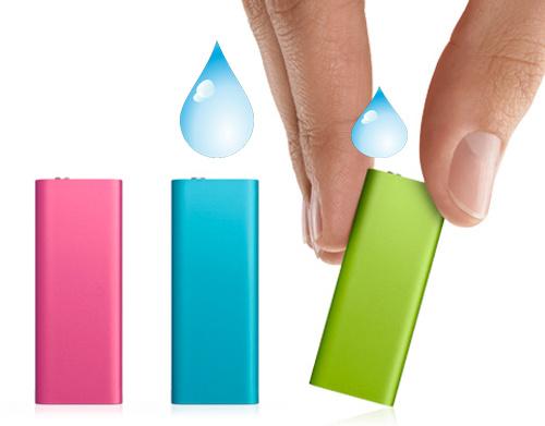 iPod shuffle com suor