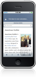 Articles – The Wikipedia App no iPhone