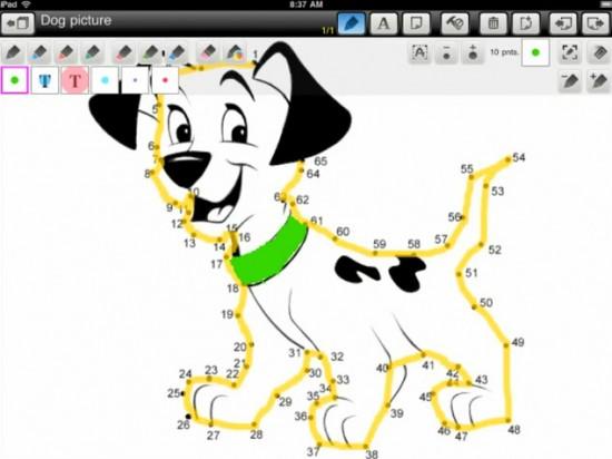 Software de desenho com cachorro para iPad
