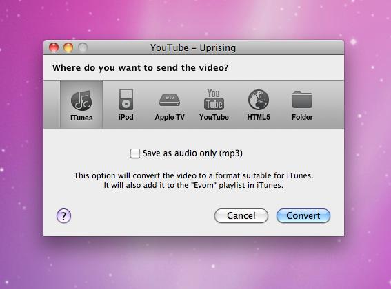 Evom no Mac OS X
