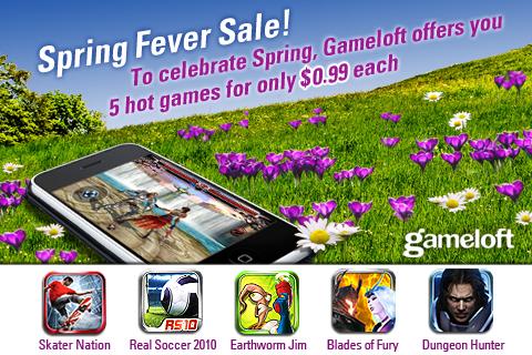 """Promoção """"Spring Fever"""" da Gameloft"""