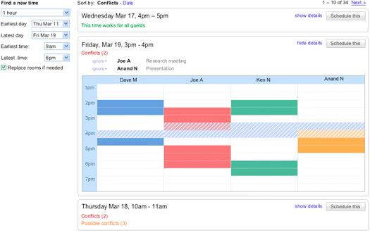 Google Calendar - Smart Rescheduler