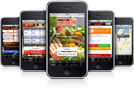 Planeta Restaurante em iPhones