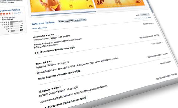 Reviews na App Store