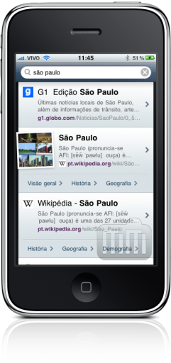 Yahoo! Search no iPhone