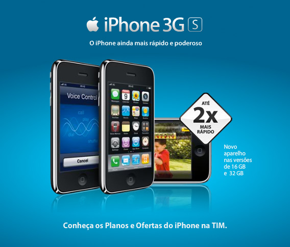iPhone 3GS na TIM Brasil
