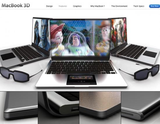Conceito: MacBook 3D