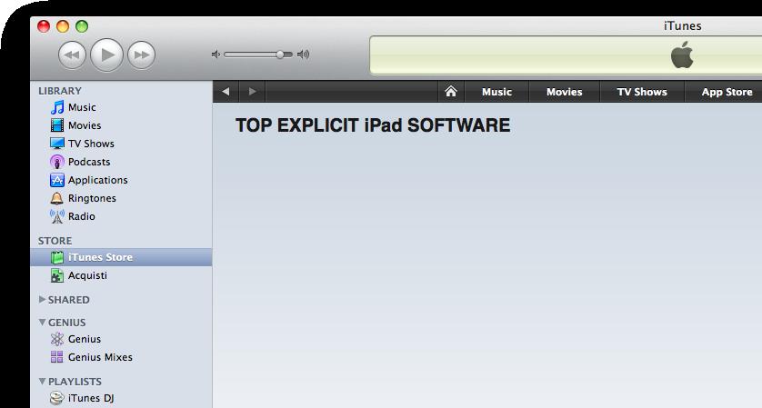 Explicit na App Store