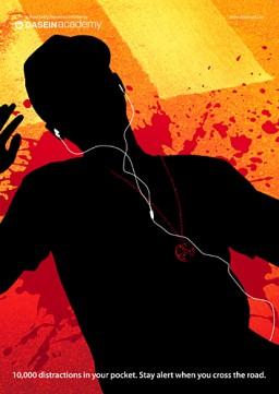 Campanha de perigo dos fones de ouvido com iPods