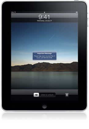 Find My iPad, via MobileMe