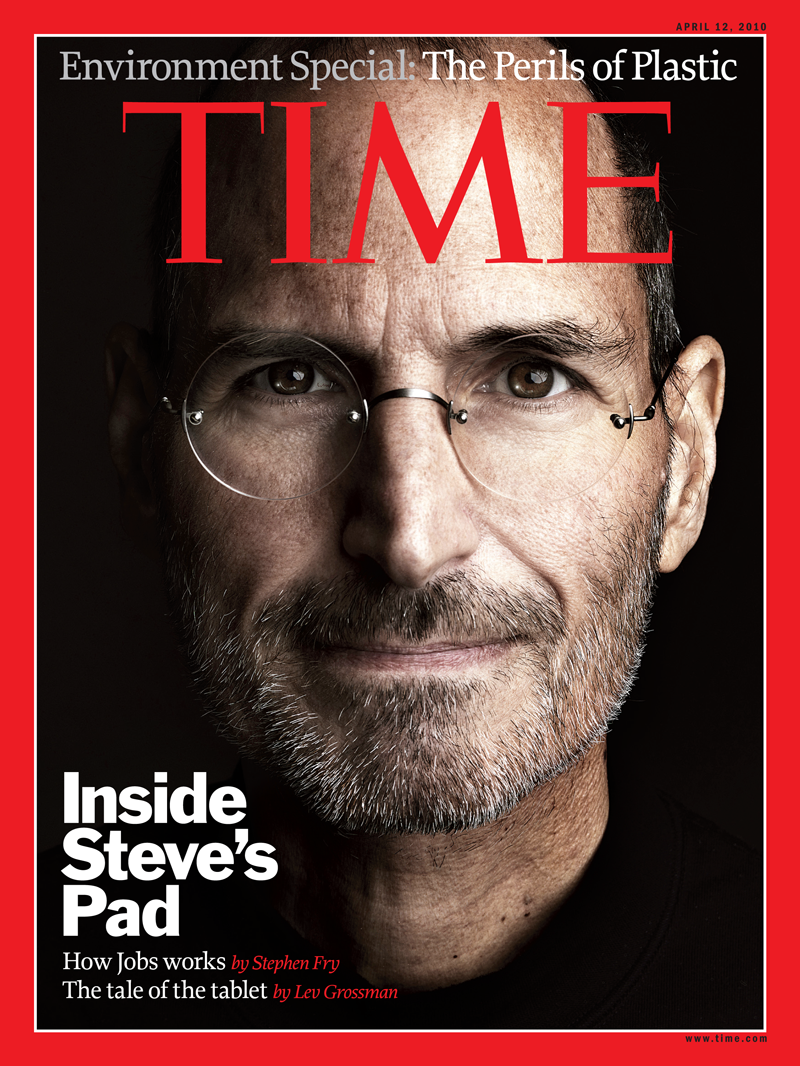 Capa da TIME com Steve Jobs e iPad