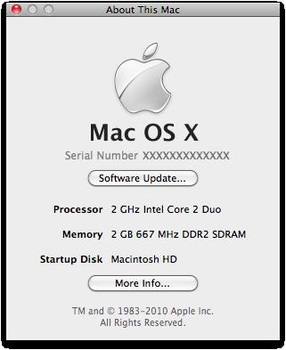 Sobre Este Mac