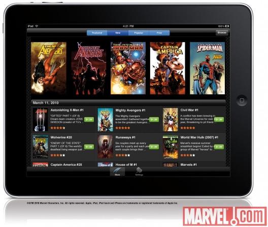 Marvel Comics no iPad