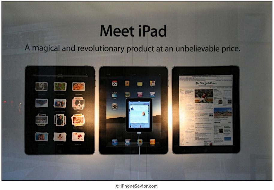 Vitrine de Apple Store com iPad