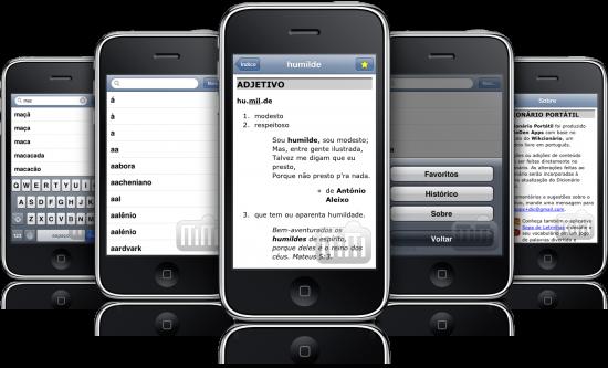 Dicionário Portátil em iPhones