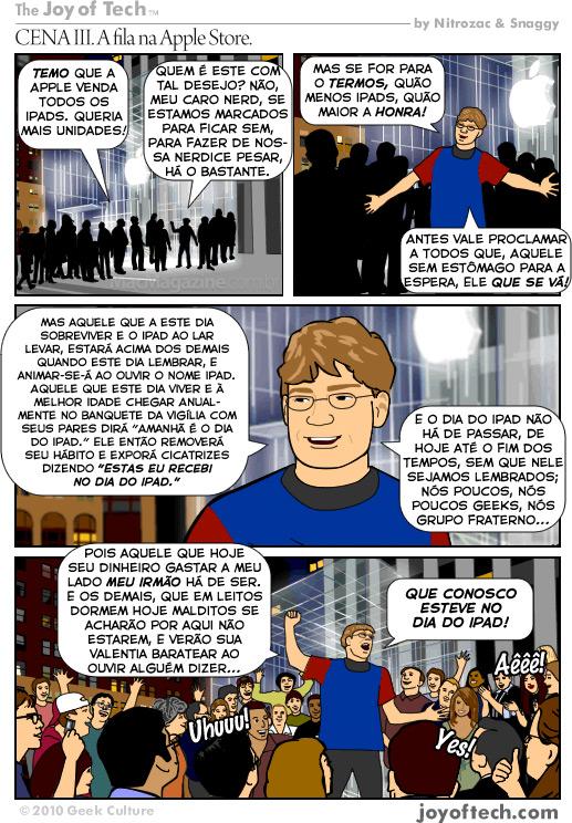 Joy of Tech: Dia do Santo iPad