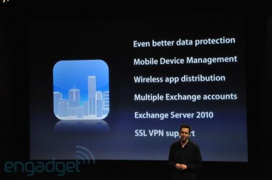 Novidades do iPhone OS 4 para empresas