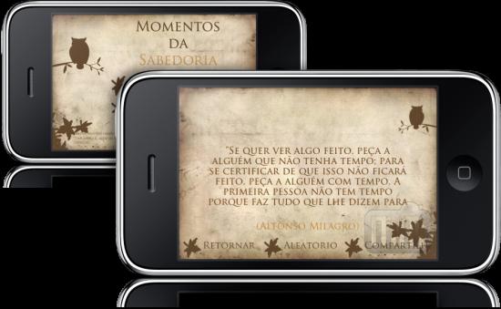 Momentos da Sabedoria no iPhone
