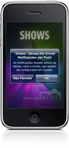 Shows no iPhone