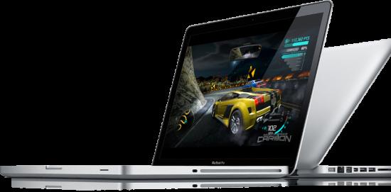 MacBooks Pro de lado, focado em performance de jogos