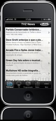 Multishow no iPhone