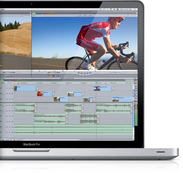 MacBook Pro com Final Cut Pro