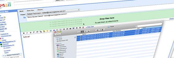 Drag & drop de anexos no Gmail