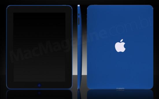 iPad pintado de azul pela ColorWare