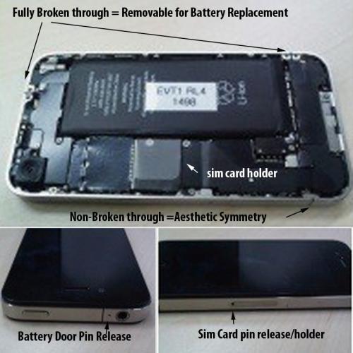 Bateria removível no iPhone 4G?