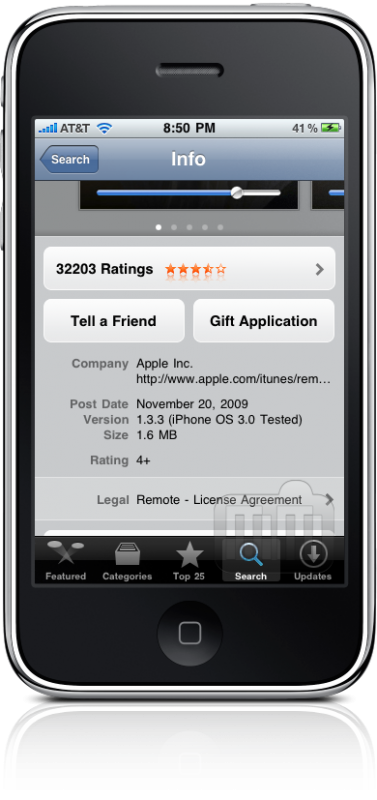 Gift App no iPhone OS 4.0