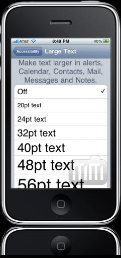 Acessibilidade no iPhone OS 4.0