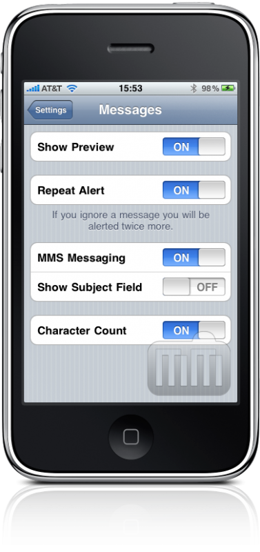 Contagem de caracteres de SMS