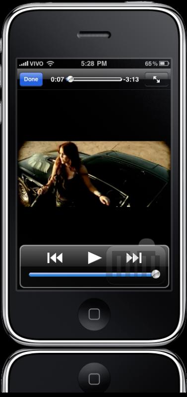 YouTube na vertical no iPhone OS 4.0