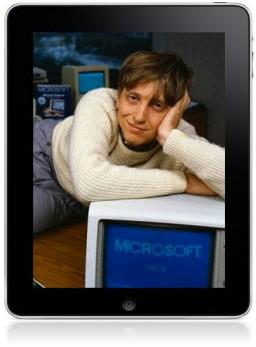 Bill Gates num iPad