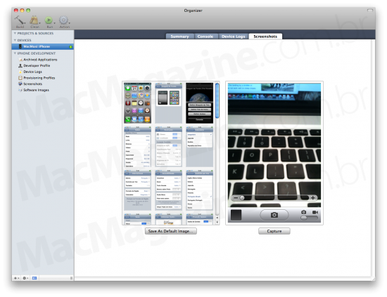 Screenshots do iPhone OS 4.0 Beta 2 via Xcode