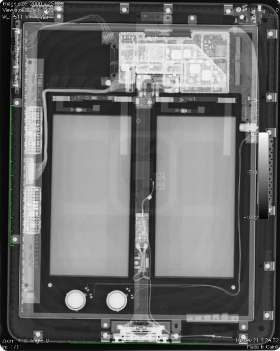 iPad via raio X