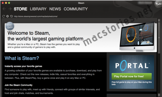 Steam no Mac OS X